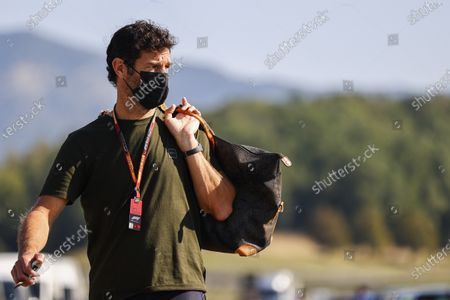 Stock Picture of TV presenter Mark Webber arrives at the circuit