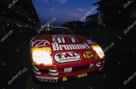 Gary Ayles / Massimo Monti / Fabio Mancini, Ennea SRL, Ferrari F40 GT Evoluzione LM, in the pits.