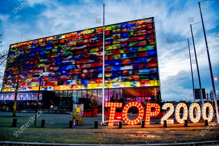 Stock Image of Dj Ruud de Wild and Nicky Romero will be played during the Top 2000. Due to the corona virus there will be no live audience, but everyone can still be virtually present in the Top 2000 Cafe via TV screens.