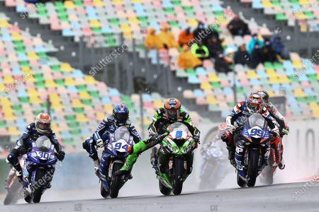 Philipp Oettl, Kawasaki Puccetti Racing, Danny Webb, WRP Wepol Racing, Corentin Perolari, GMT94 Yamaha.