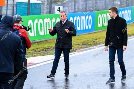 Martin Brundle, Sky TV and Paul di Resta, Sky, TV