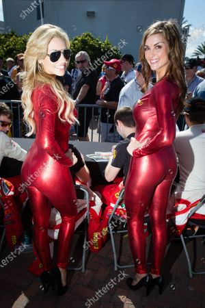 MOMO girls, including former Miss Sprint Cup Paige Duke