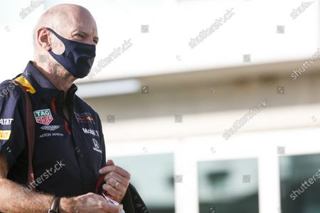 Adrian Newey, Chief Technical Officer, Red Bull Racing arrives