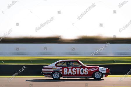 Stock Image of Mark Fowler/Stuart Graham, Ford Capri MkIII 3.0S. Photo: Nick Dungan/Goodwood
