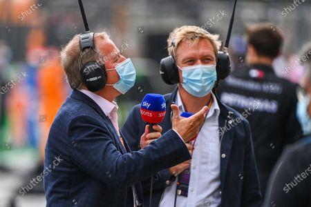 Martin Brundle, Sky TV and Simon Lazenby, Sky TV