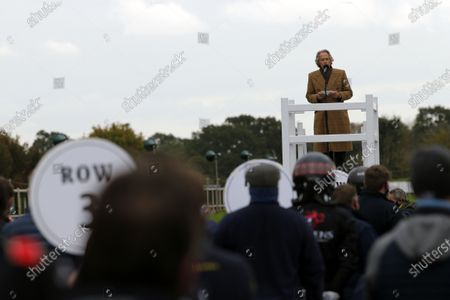 Charles Gordon-Lennox, 11th Duke of Richmond, formerly Lord March, makes a speech.