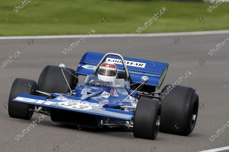 Sir Jackie Stewart demonstrate his Tyrrell 003 Ford.