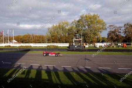 Emerson Fittipaldi demonstrates a Lotus 72.
