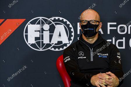 Simon Roberts, Acting Team Principal, Williams Racing in a Press Conference