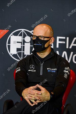 Simon Roberts, Acting Team Principal, Williams Racing, in a Press Conference