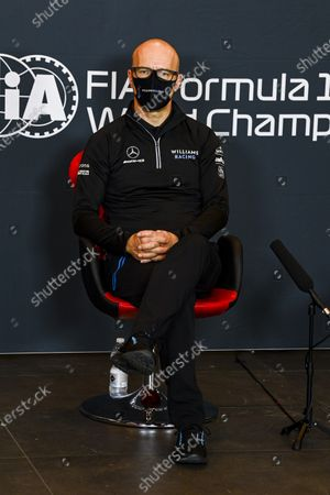 Stock Photo of Simon Roberts, Acting Team Principal, Williams Racing, in a Press Conference