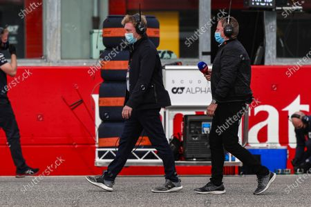 Stock Picture of Simon Lazenby, Sky TV and Martin Brundle, Sky TV