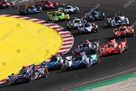 Start of the 4 Hours of Portimao - #32 Oreca 07 - Gibson / UNITED AUTOSPORTS / William Owen / Alex Brundle / Job Van Uitert leads