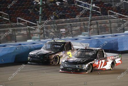 #17: Dylan Lupton, DGR-Crosley, Ford F-150 Crosley, #3: Jordan Anderson, Jordan Anderson Racing, Chevrolet Silverado Bommarito.com