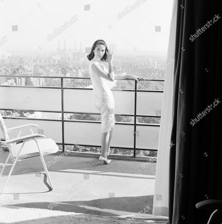 Nancy Kwan during the filming of 'Shooting Stars'