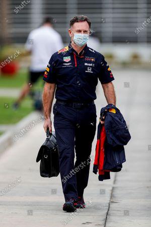 Christian Horner, Team Principal, Red Bull Racing in the paddock