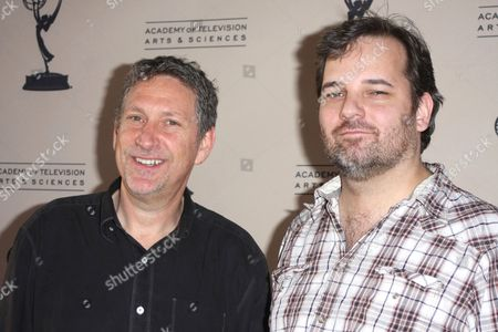 Stock Image of Russ Krasnoff and Dan Harmon