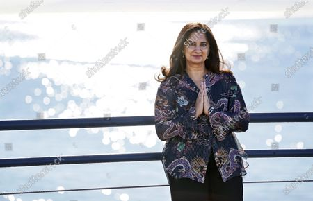 """Meditation expert, author and speaker Mallika Chopra poses for a portrait, in Santa Monica, Calif. Chopra is a """"mindfulness consultant"""" on the new Apple TV+ animated children's series """"Stillwater"""