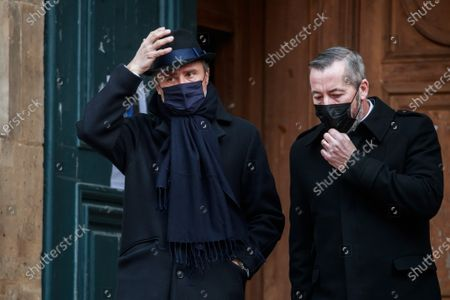 Editorial photo of Funeral ceremony of Claude Brasseur in Paris, France - 29 Dec 2020