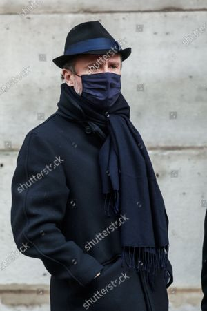 Stock Picture of Alexandre Brasseur, son of late French actor Claude Brasseur, attends his father's funeral ceremony at Saint Roch church in Paris, France, 29 December 2020. Brasseur died at the age of 84 on 22 December 2020.