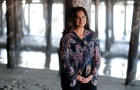 Author Mallika Chopra poses for a portrait, in Santa Monica, Calif