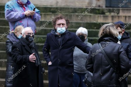 Jean-Paul Rouve attends during the mass in homage to Claude Brasseur at Church of Saint Roch