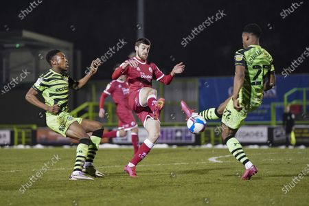Ashley Nadesan of Crawley Town in action during the EFL Sky Bet League 2 match between Forest Green Rovers and Crawley Town at the New Lawn, Forest Green