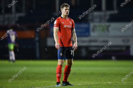 Luton Town forward James Collins (19) during the EFL Sky Bet Championship match between Luton Town and Bristol City at Kenilworth Road, Luton