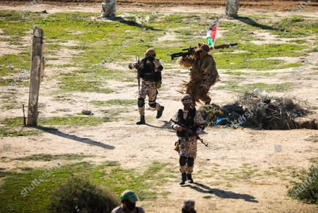 Editorial image of Palestinian factions hold military drill in Gaza, Palestine - 29 Dec 2020