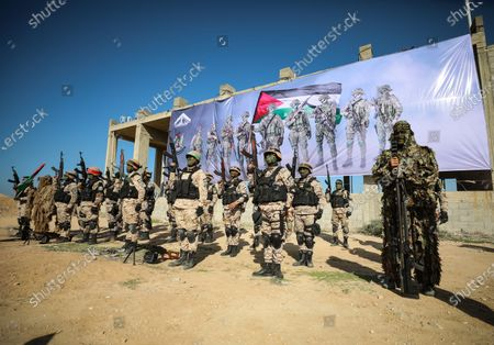Editorial photo of Palestinian factions hold military drill in Gaza, Palestine - 29 Dec 2020