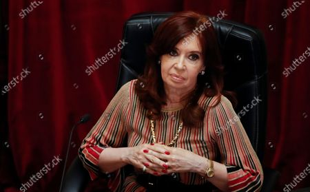 Senate President and Argentina's Vice President Cristina Fernandez attends the debate of a bill that would legalize abortion, inside Congress in Buenos Aires, Argentina