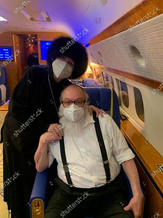 Jonathan Pollard and his wife Esther sit inside a private plane provided by American casino magnate Sheldon Adelson, on route to land in Ben Gurion International airport near Tel Aviv, Israel, . Pollard, who spent 30 years in U.S. prison for spying for Israel, arrived in Israel early Wednesday with his wife, triumphantly kissing the ground as he disembarked from the aircraft in the culmination of a decades-long affair that had long strained relations between the two close allies