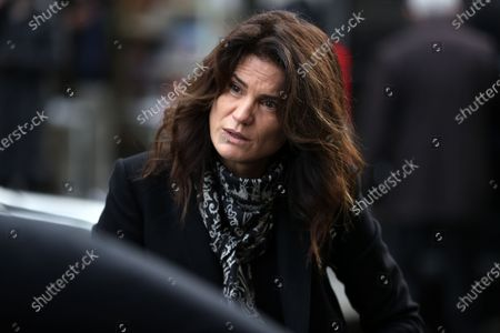 Stock Picture of Juliette Brasseur attends during the mass in homage to Claude Brasseur at Church of Saint Roch