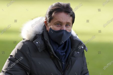 FC Nantes president Waldemar Kita attends the first training session of the new Nantes head coach Domenech at the training center of La Joneliere, in La Chapelle sur Erdre, near Nantes