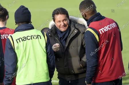 FC Nantes president Waldemar Kita attends the first training session of the new Nantes head Domenech at the training center of La Joneliere, in La Chapelle sur Erdre, near Nantes