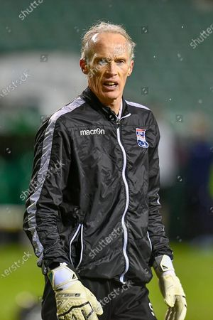 Stock Picture of Scott Thomson, goalkeeping coach of Ross County FC during the warm up before the SPFL Premiership match between Hibernian and Ross County at Easter Road Stadium, Edinburgh