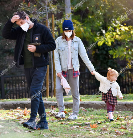Stock Photo of Kata Mara and Jamie Bell are seen out with their daughter