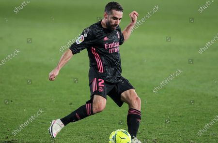 Dani Carvajal of Real Madrid CF in action during La Liga football match played between Elche CF and Real Madrid CF at Martinez Valero stadium on December 30, 2020 in Elche, Alicante, Spain.