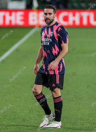 Dani Carvajal of Real Madrid CF during La Liga football match played between Elche CF and Real Madrid CF at Martinez Valero stadium on December 30, 2020 in Elche, Alicante, Spain.