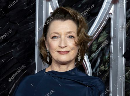 """Actress Lesley Manville appears at the premiere of the film """"Maleficent Mistress of Evil"""" in London. The Queen's New Year honors list was announced . Actress Lesley Manville, an Oscar nominee for """"Phantom Thread,"""" was named a Commander of the Order of the British Empire, or CBE. Actor Toby Jones, whose credits include Dobby in the """"Harry Potter"""" movies, was made an Officer of the Order of the British Empire or OBE, as was writer Jed Mercurio, creator of gripping TV detective series """"Line of Duty"""