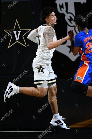 Vanderbilt forward Myles Stute plays against Florida during an NCAA college basketball game, in Nashville, Tenn