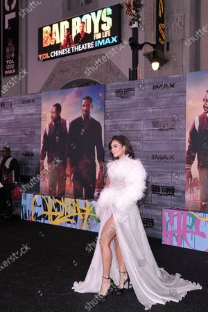 """Vanessa Hudgens attends the LA premiere of """"Bad Boys for Life"""" at the TCL Chinese Theatre, in Los Angeles. Sony's Will Smith sequel """"Bad Boys for Life"""" has stayed in first place in North America since its January release with $206.3 million. Globally it's in second place to the Chinese film """"The Eight Hundred"""" - the first time that the top worldwide film originated outside of Hollywood"""