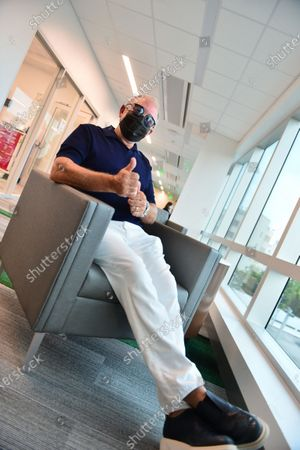 Music producer Emilio Estefan, 67, waits during a follow-up after getting his first dose of Pfizer-BioNtech COVID-19 vaccine from Nadia Johnson, RN from Jackson Health System, at the Jackson Memorial Hospital in Miami, Florida. Jackson Health System began Pfizer COVID-19 vaccinations for people 65 and older in Miami-Dade County.