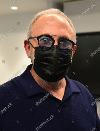 Music producer Emilio Estefan, 67, prepare to receives his first dose of Pfizer-BioNtech COVID-19 vaccine at Jackson Memorial Hospital in Miami, Florida. Jackson Health System began Pfizer COVID-19 vaccinations for people 65 and older in Miami-Dade County.