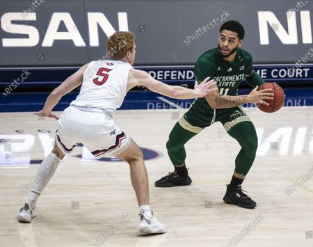 Editorial photo of NCAA Men's  Basketball Sacramento State vs Saint Mary's, Moraga, USA - 30 Dec 2020