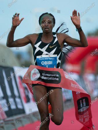 Kenyan athlete Hellen Obiri wins the 10km international road race called 'Cursa dels Nassos' in Barcelona, Catalonia, Spain, 31 December 2020.