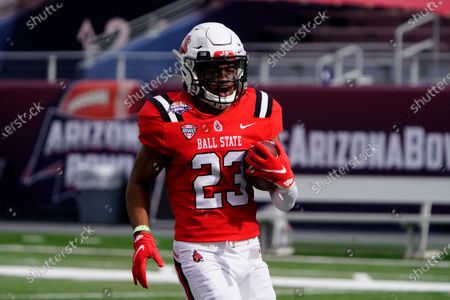 Ball State safety Brett Anderson II (23) in the first half of the Arizona Bowl NCAA college football game against San Jose State, in Tucson, Ariz