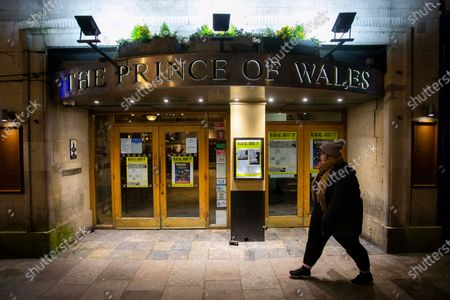 Picture shows The Prince of Wales pub on St Mary Street in Cardiff, Wales as the streets remain empty on New Years Eve. The normally packed pubs and bars are empty this year due to the coronavirus pandemic.