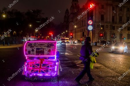 Editorial photo of The end of the Brexit transition period in Westminster., Parliament Square, London, UK - 31 Dec 2020