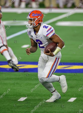 Stock Image of Arlington, TX..Florida Gators quarterback Anthony Richardson (2) in action during the Florida Gators, versus the Oklahoma Sooners college football game, at the Goodyear Cotton Bowl, in Arlington, Texas on , 2020. (Mandatory Credit: Tommy Hays / MarinMedia.org / Cal Sport Media) (Absolute Complete photographer, and credits required)..Television, or For-Profit magazines Contact MarinMedia directly